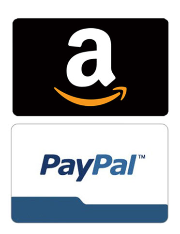 Amazon or PayPal payments