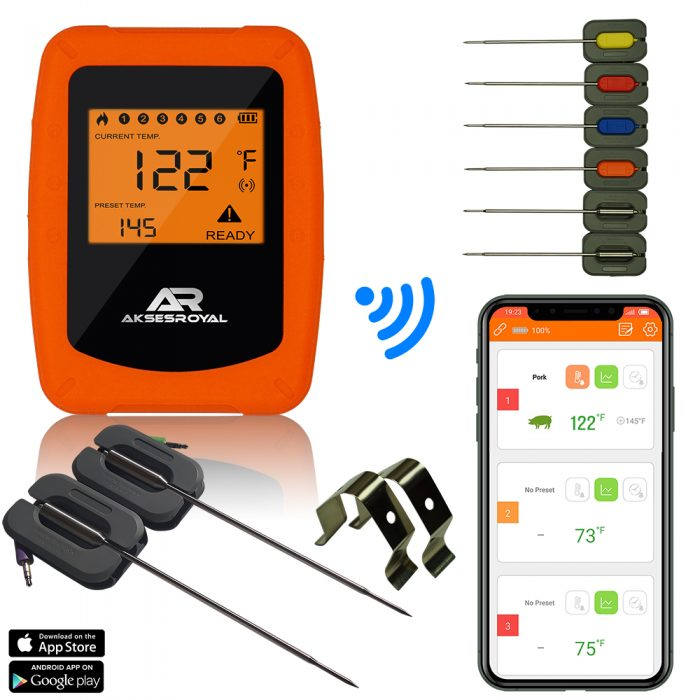 Wireless Meat Thermometer AKSESROYAL RBQ-F7R